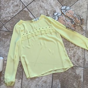 Yellow Nailhead Blouse